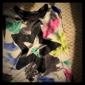 Colorful glittery star tanktop